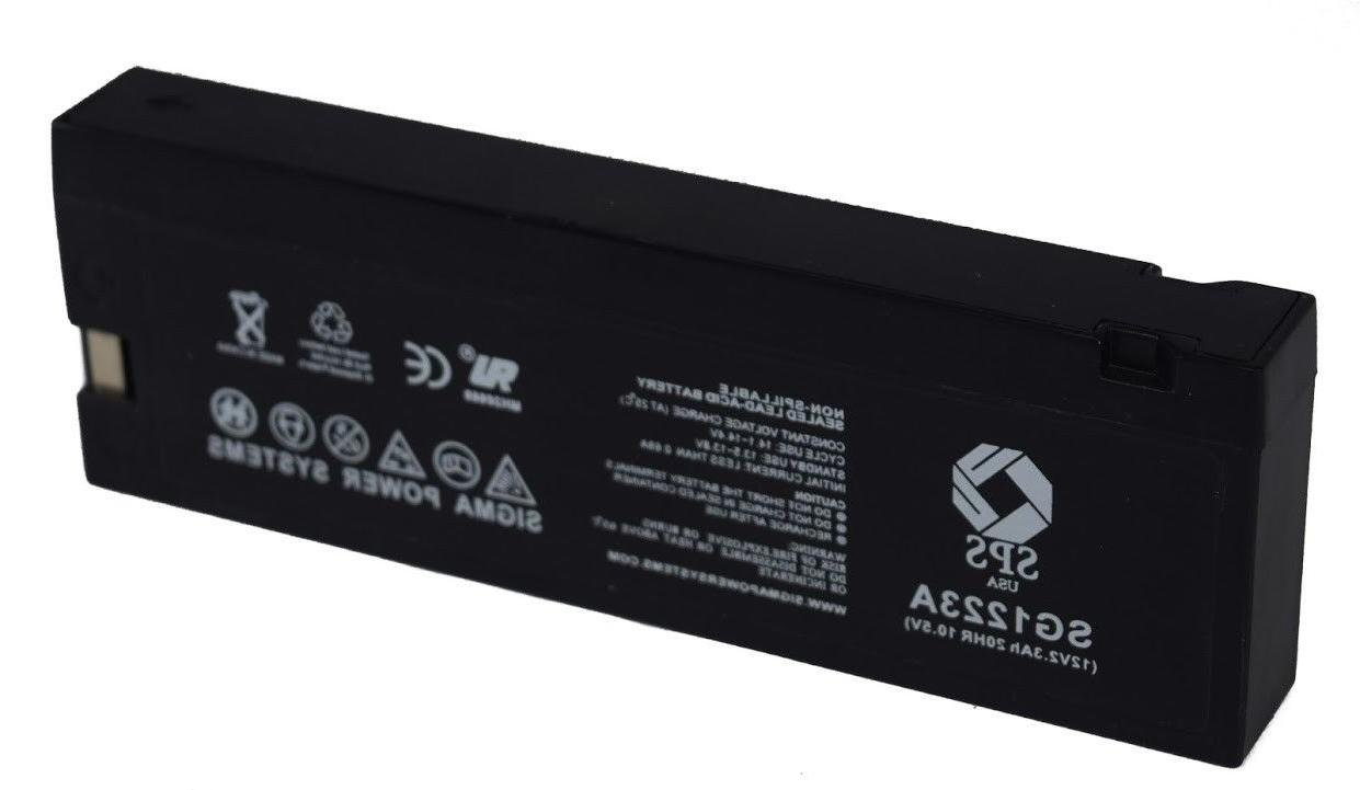 SPS 12V 2.3AH Sealed Lead Acid  Replacement Battery for GH12