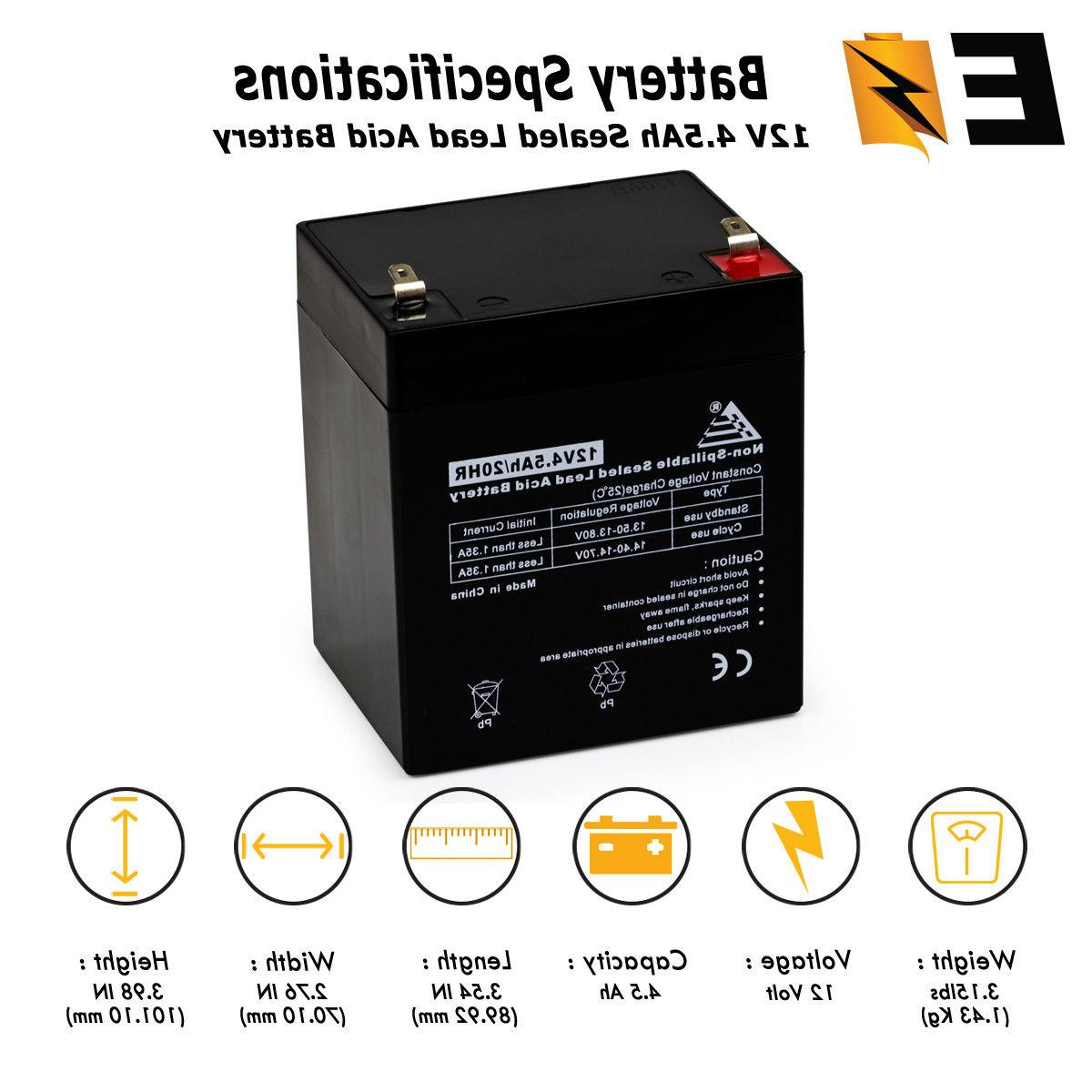 12v 4 5ah replacement battery for djw12