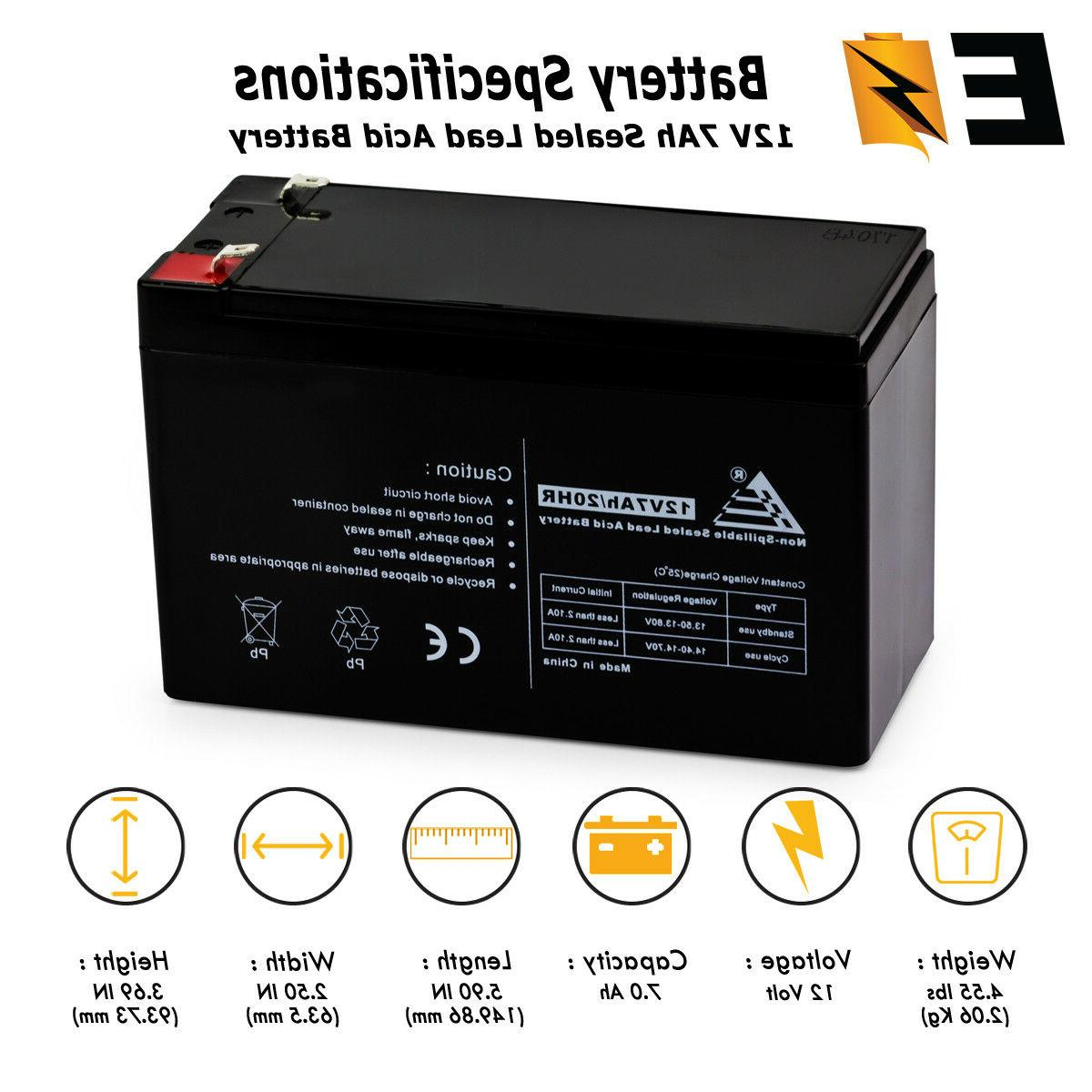 12V 7AH CA1270  UPS Replacement Battery for Power-Sonic Batt