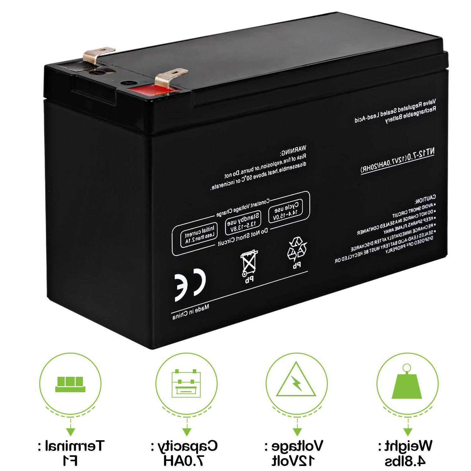 12V 7Ah Battery Replacement DJW12-7.0 Multi