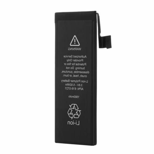 1560mAh Li-ion Internal Battery for iPhone 5s 5c Cell phone Tools