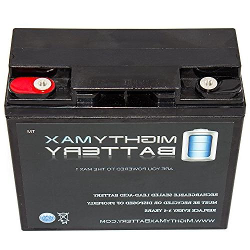 Mighty Max 18AH SLA Internal Thread Replacement Battery for Brand Product