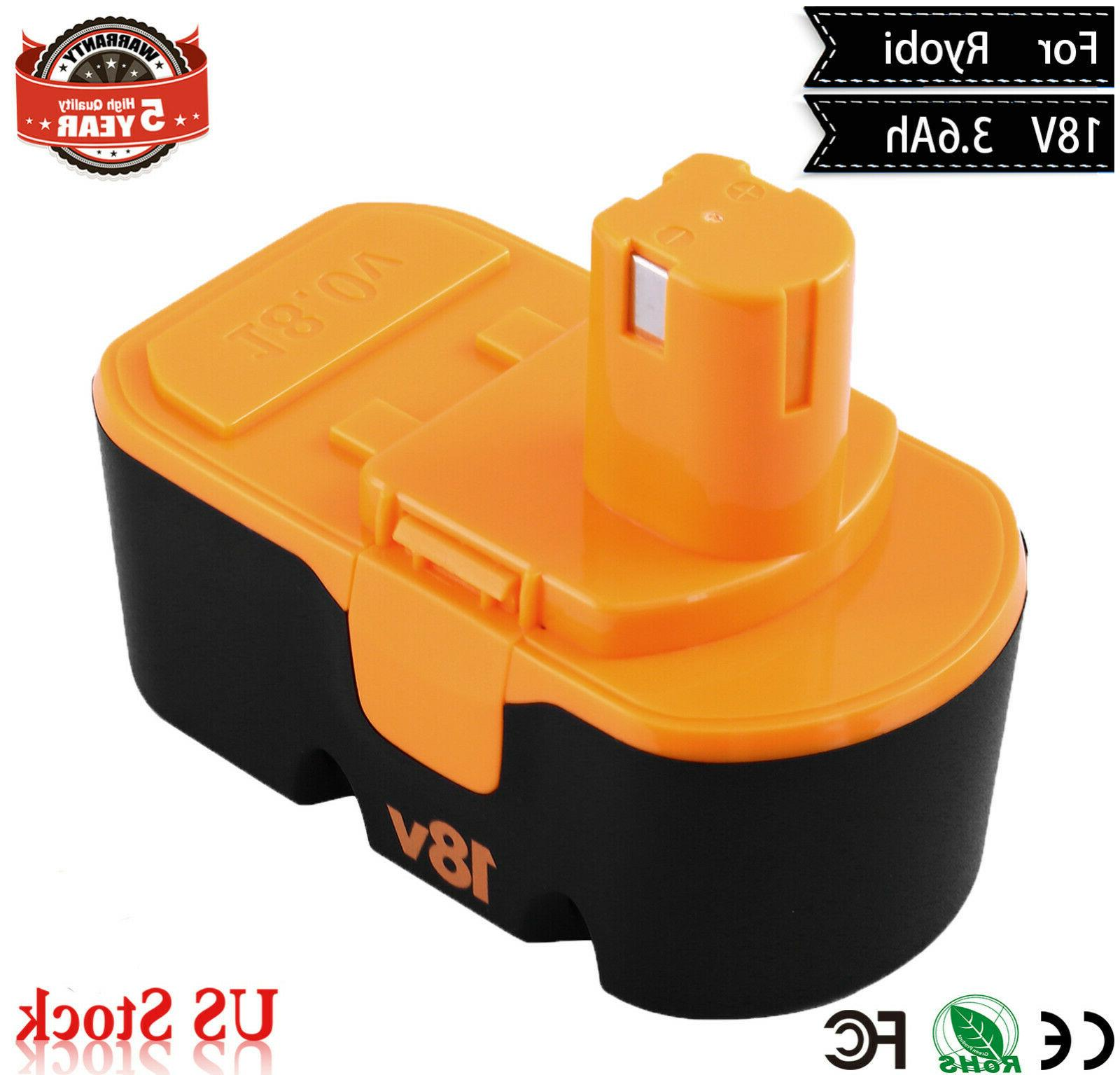 18v 3600mah upgraded p100 replacement battery one