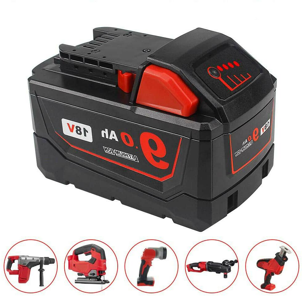 18v 9.0Ah Replacement Battery For Power Tools