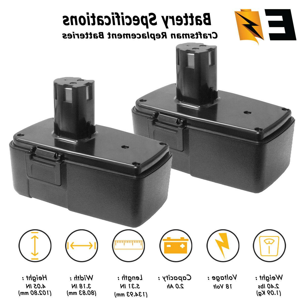 2 pack 18 volt 2 0ah replacement