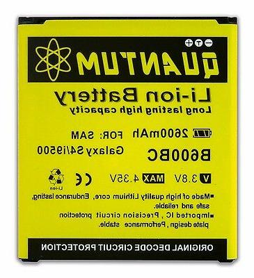 Quantum 2600mAh Replacement Battery for Samsung Galaxy S4 i9