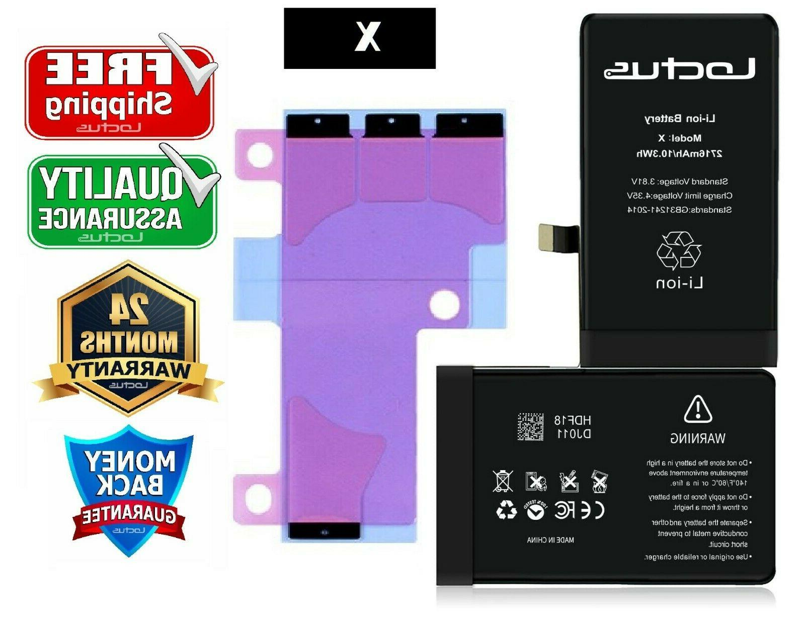 2716mah replacement battery iphone x with adhesive