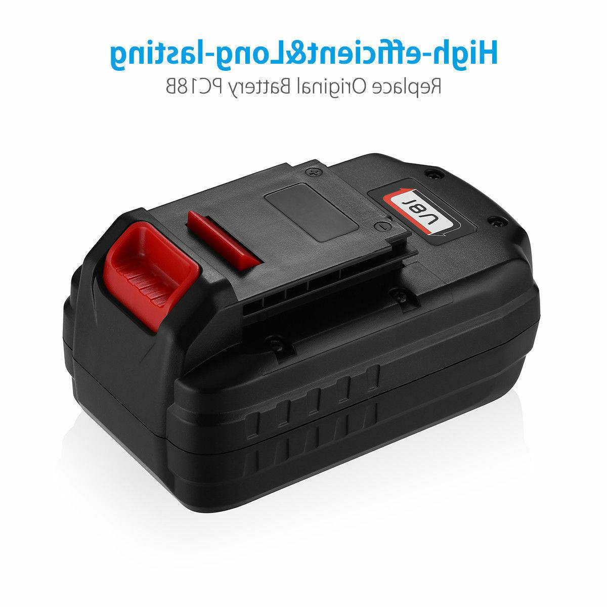 2Pack 18V Replace Porter Cable PC18B Battery Volt Cordless PCC489N