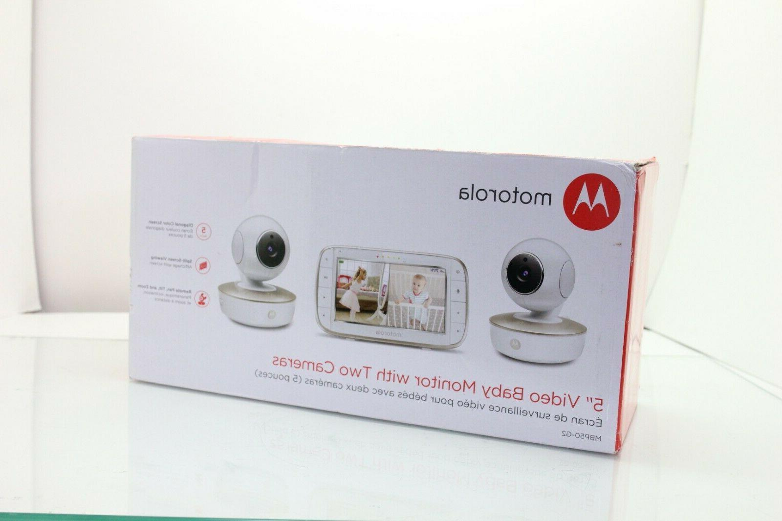 "Motorola 5"" Video Baby Monitor with Two MBP50-G2"