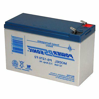 Power-Sonic 12 Volt 7 AmpH SLA Replacement Battery for HR123