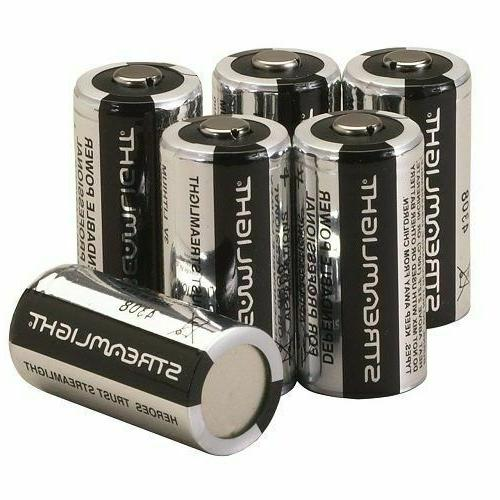 Streamlight 85180 CR123A Lithium Batteries, 6-Pack