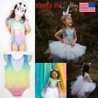 Baby Girls Romper Jumpsuit Mermaid Outfits Backless Leotard