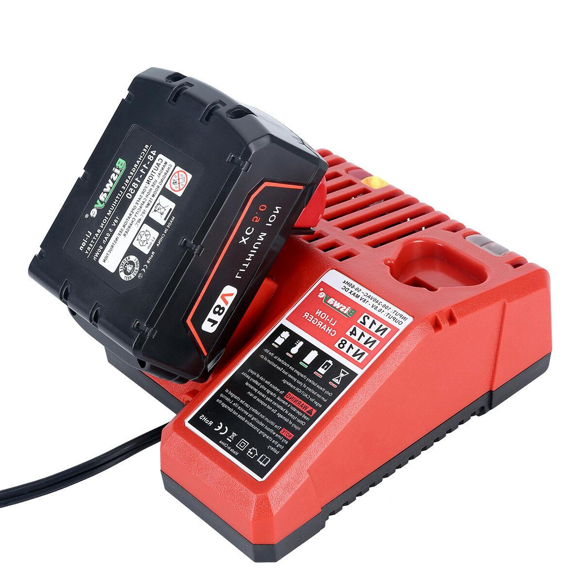 Replacement Battery for Milwaukee 18V Ion Battery