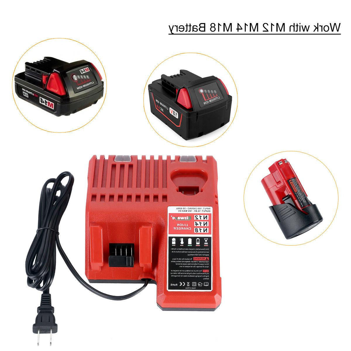 Replacement Milwaukee 12V 18V Lithium Ion Battery