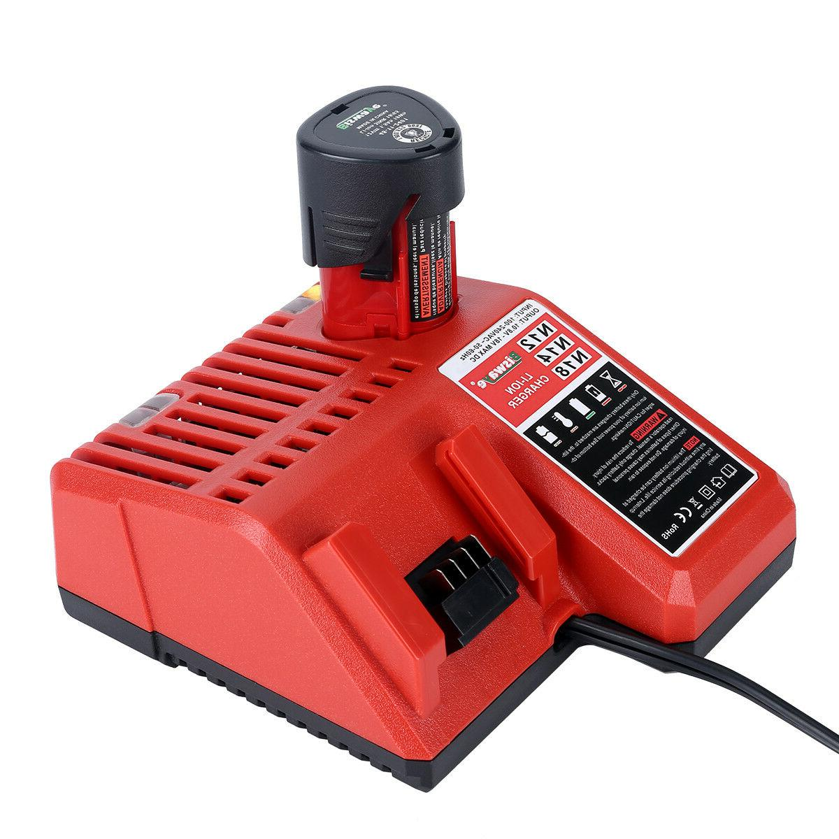 Replacement Milwaukee 12V & 18V M18 Lithium Battery