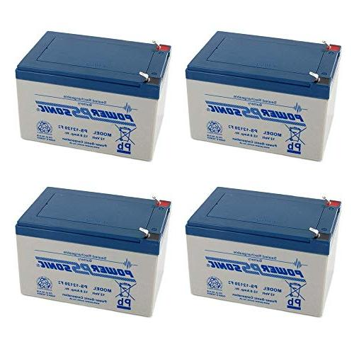 Powersonic Replacement for Power-Sonic PS-12120 12AH - 4 Pack