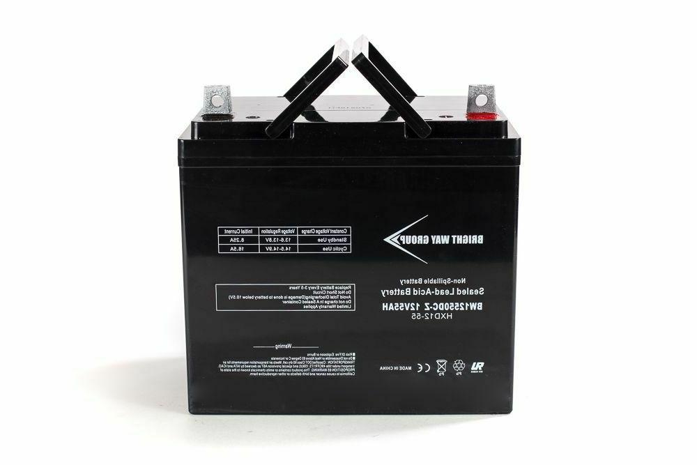 bwg ub12550 replacement 45825 12v 55ah 22nf