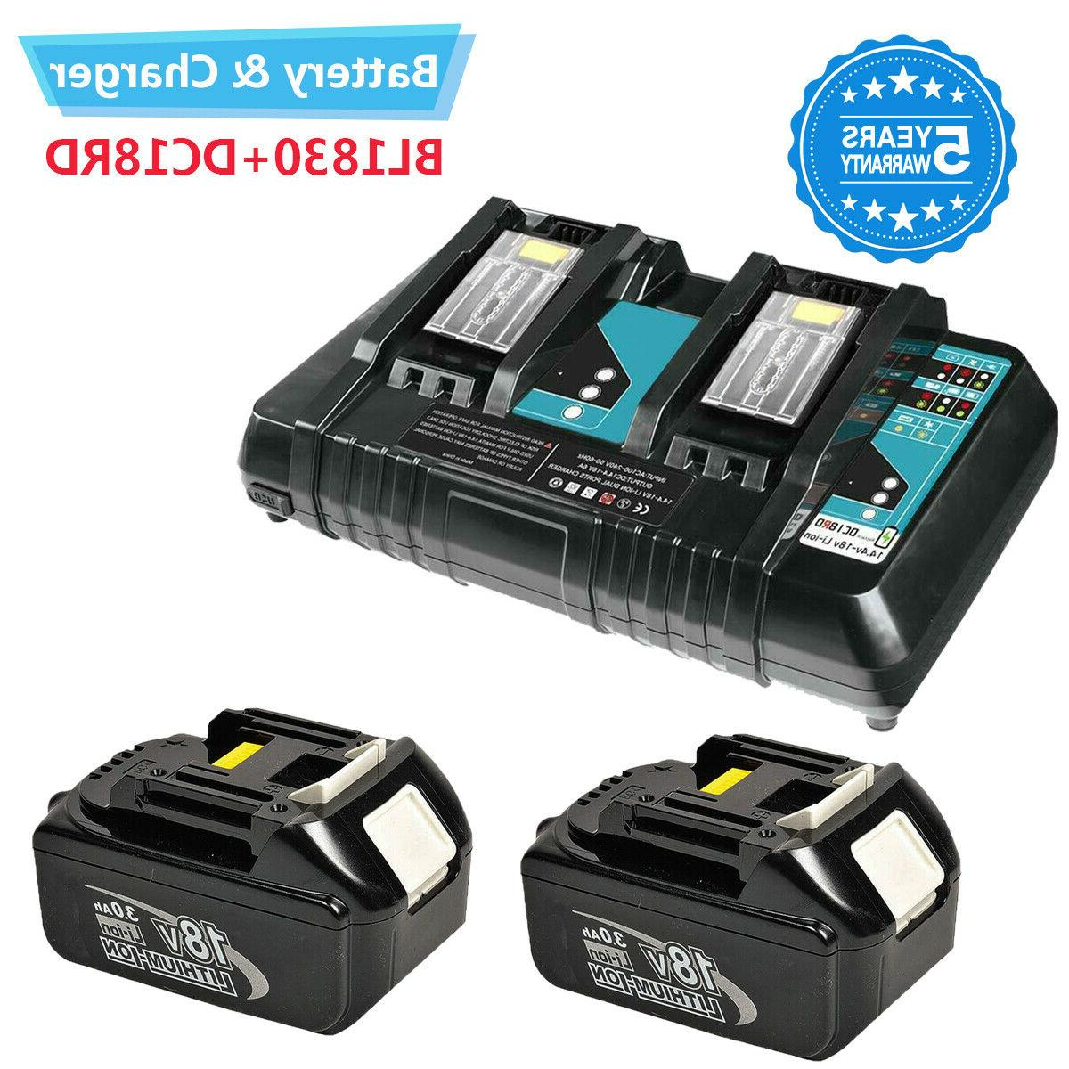 charger dc18rc battery for makita and replace