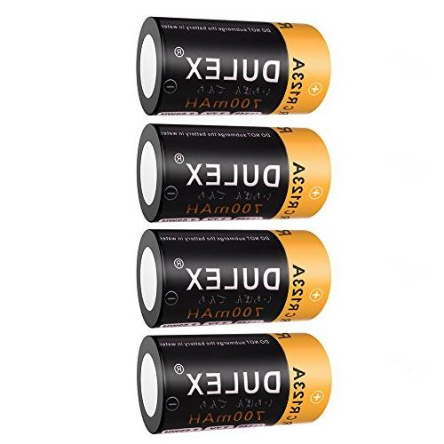 CR123A Rechargeable CR123A Batteries, 8-Pack with Arlo Security Cameras, Alarm System