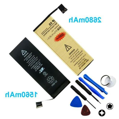 High-Capacity Gold Battery iPhone 4S 5 6 6S Plus +