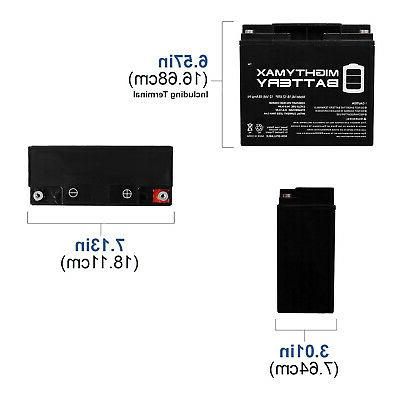 Mighty Max Battery 12V 18AH SLA Replacement Battery for Brig