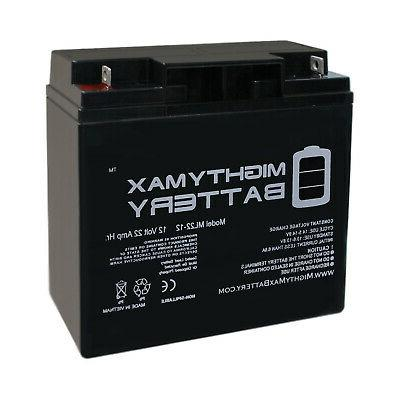 mighty max 12v 22ah sla battery replacement