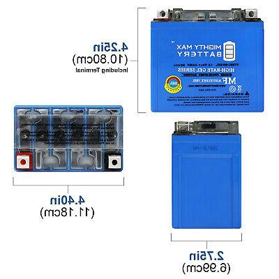 Mighty Max YTX5L-BS GEL Replacement Battery YUAM32X5B