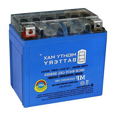 mighty max ytx5l bs gel replacement battery