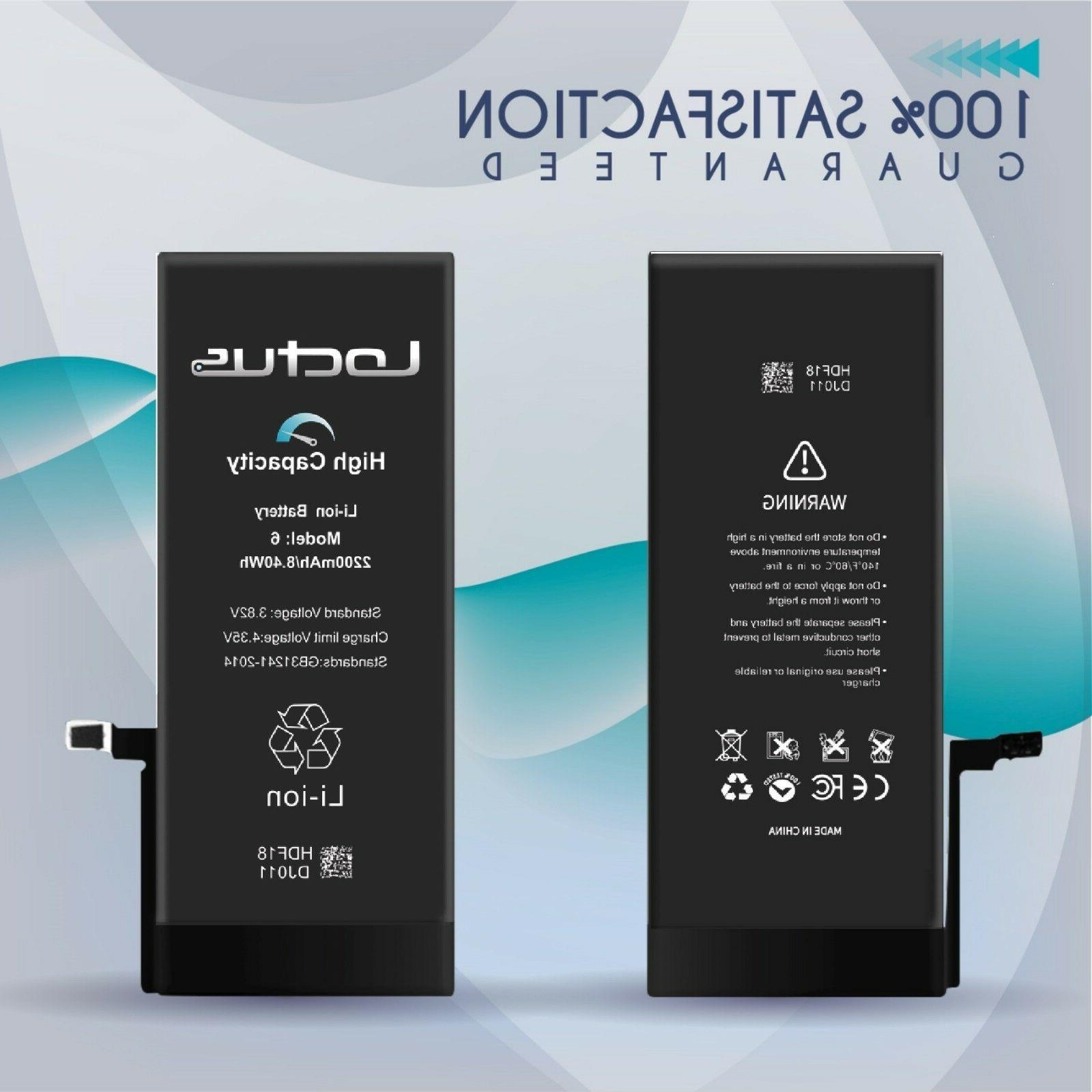 2200mAh High Replacement Battery 6 Tools 2 Warranty