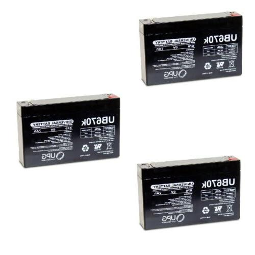new 3 pack upg ub670 6v 7ah