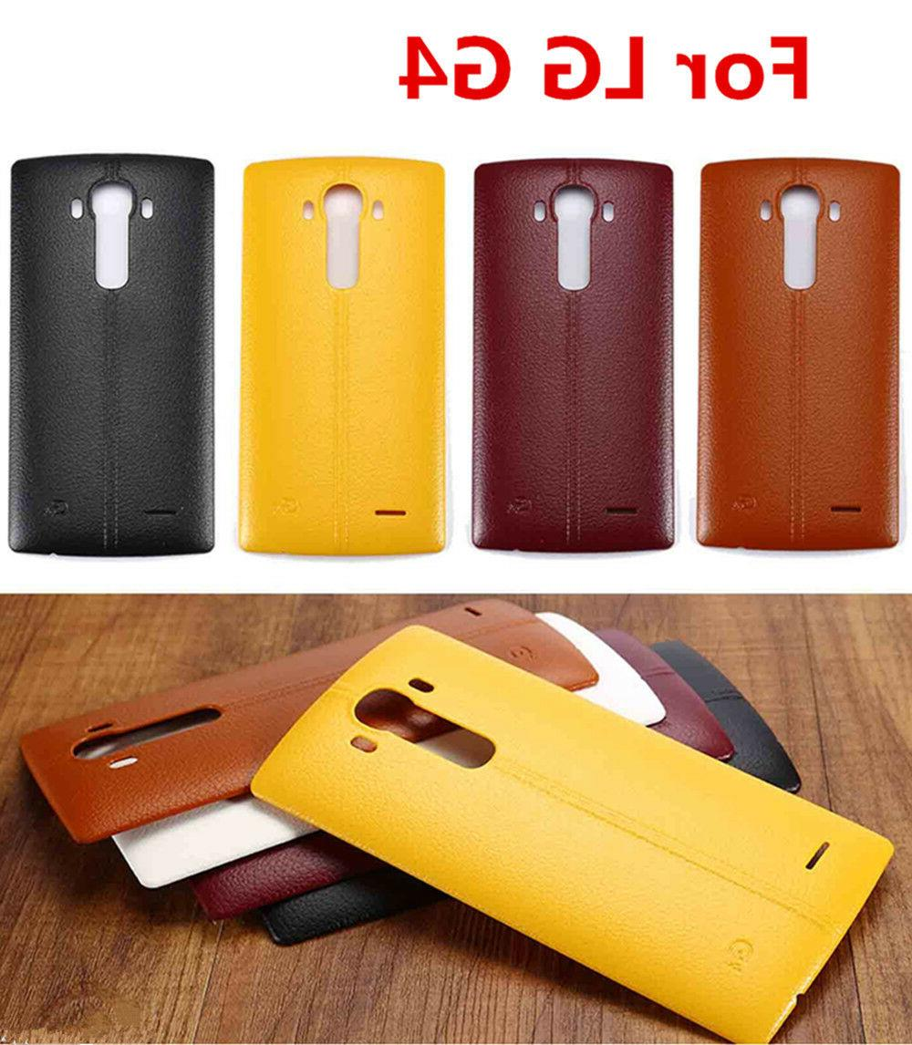 New Leather pattern Battery Back Door Cover Replacement For