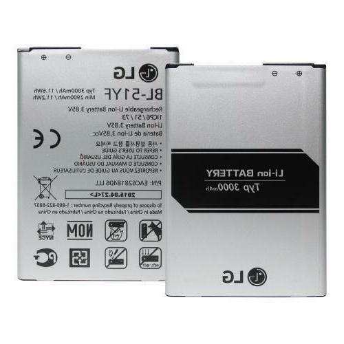 NEW Replacement Internal Battery for LG G3 3000mAh/ G4 3000m