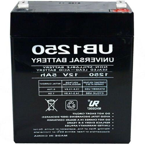 UPG UB1250 12V 5AH Sealed Lead Acid  Replacement Battery for