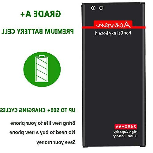 Note 4 Battery 3450mAh Replacement for Galaxy