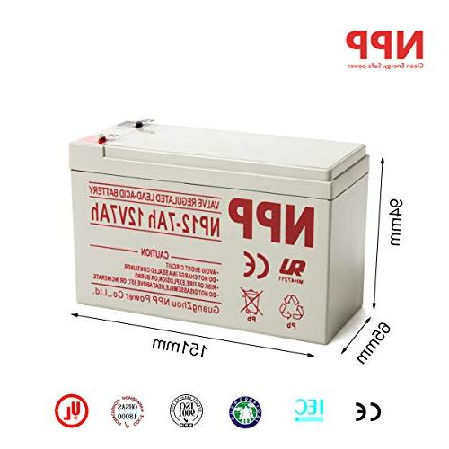 NP12-7Ah 12V Rechargeable Maintenance Free Regulated Battery F2