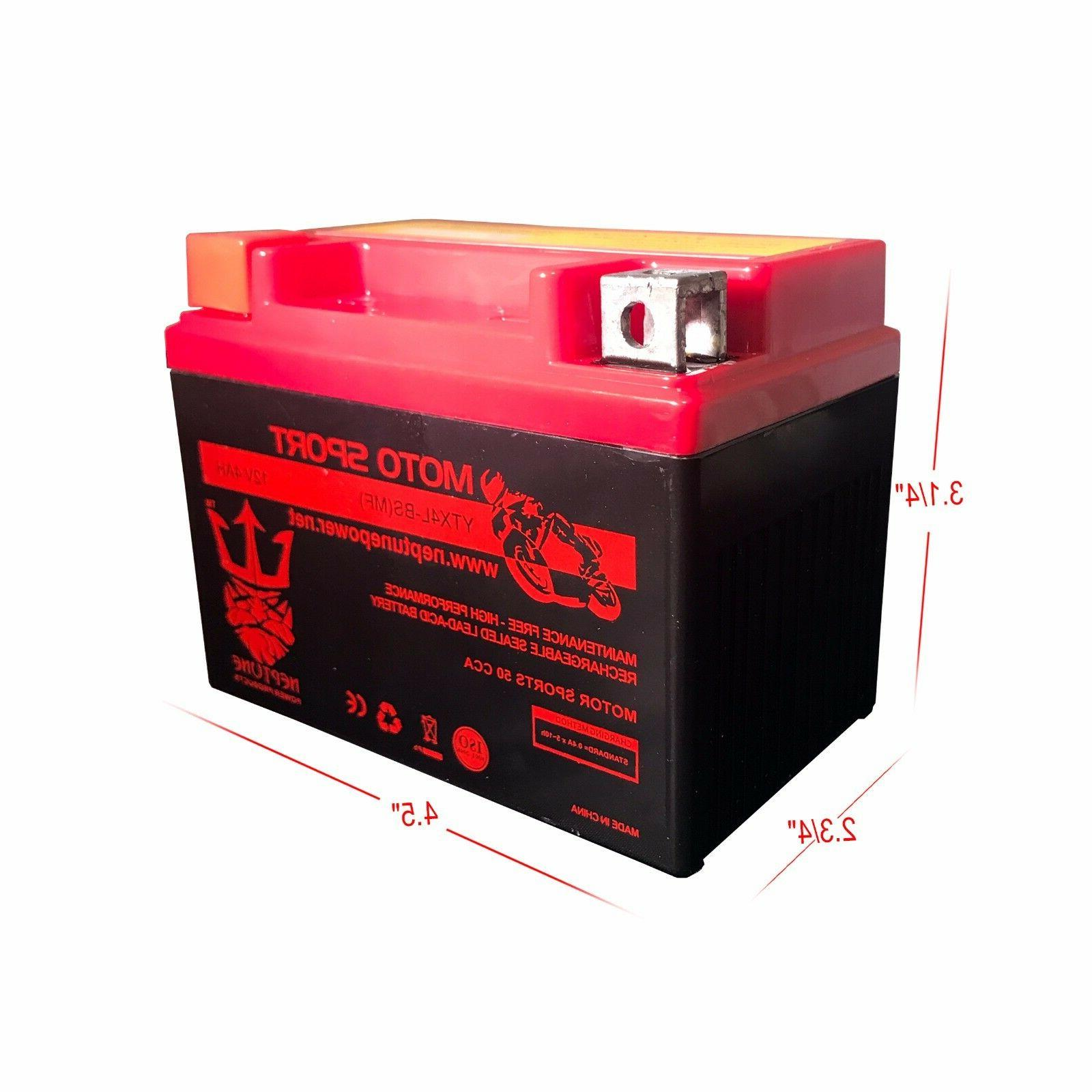 Outdo YTX4L-BS YT4L-12 Motorcycle Scooter ATV Battery