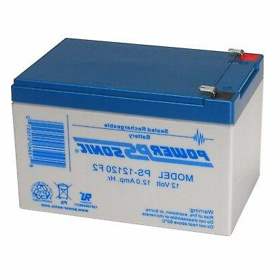 Power-Sonic 2 Pack Powersonic PS12120F2 Replacement Battery