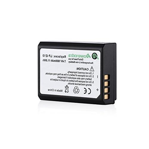 Powerextra Canon 7.4V Li-ion Battery For Rebel T3, Kiss X50, Kiss X70, 1100D, EOS 1200D, 1300D Digital Camera