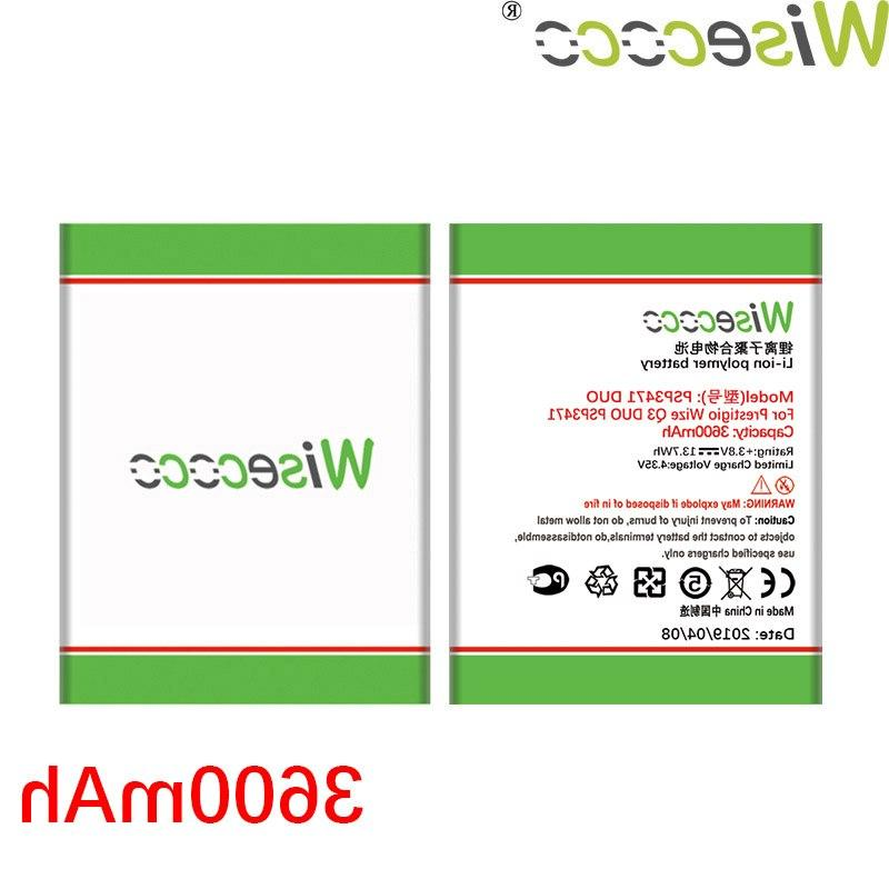 Wisecoco PSP3471 DUO <font><b>Battery</b></font> For Prestigio Wize Q3 DUO <font><b>Replacement</b></font> +