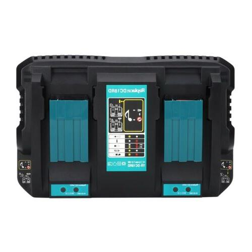 Quick Dual Battery Charging Double Charger for Makita