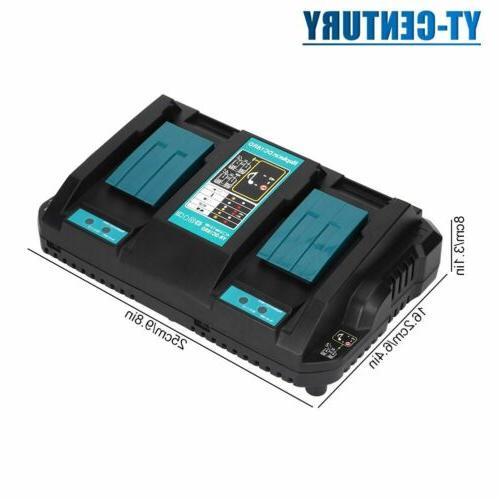 quick dual port battery charging double charger