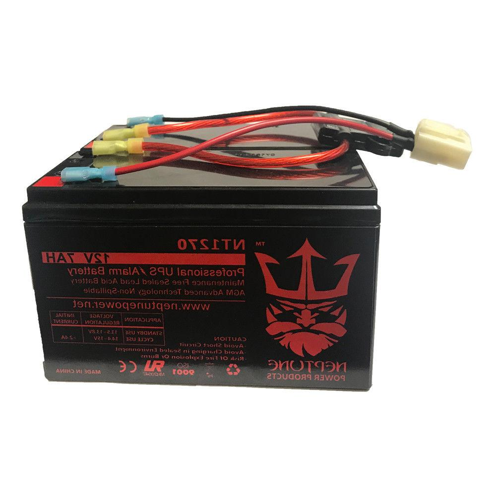 Razor Scooter 12V 7Ah Battery Replacement Set with New Wirin