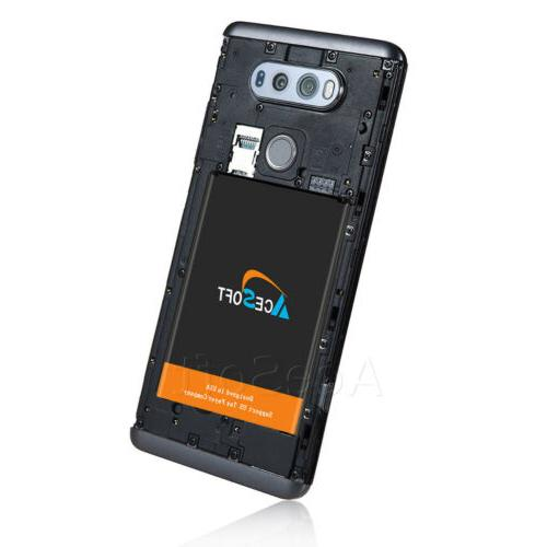 Fits LG V20 Slim Battery Replacement Extended High Capacity