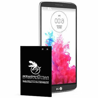 RaptorPower Replacement Battery for LG G3 BL-53YH D850 D852