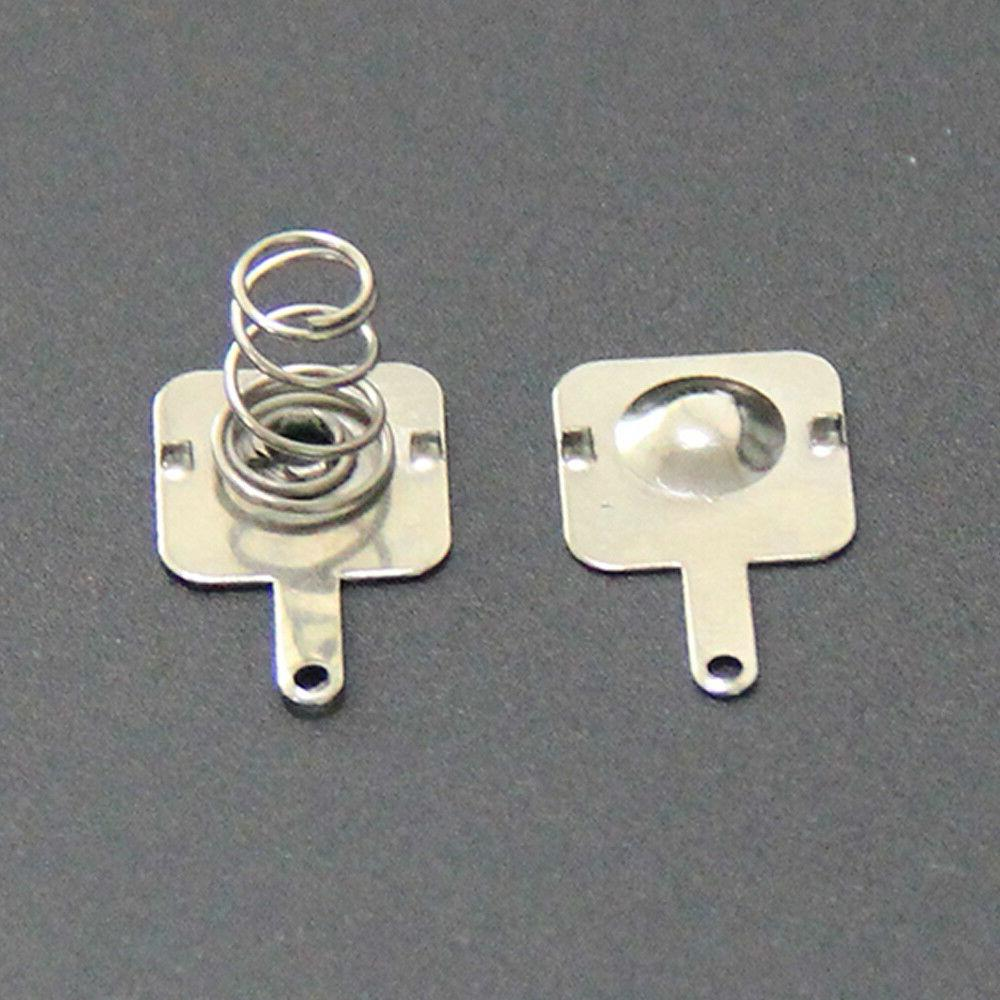 Silver Tone Contact For AA Batteries