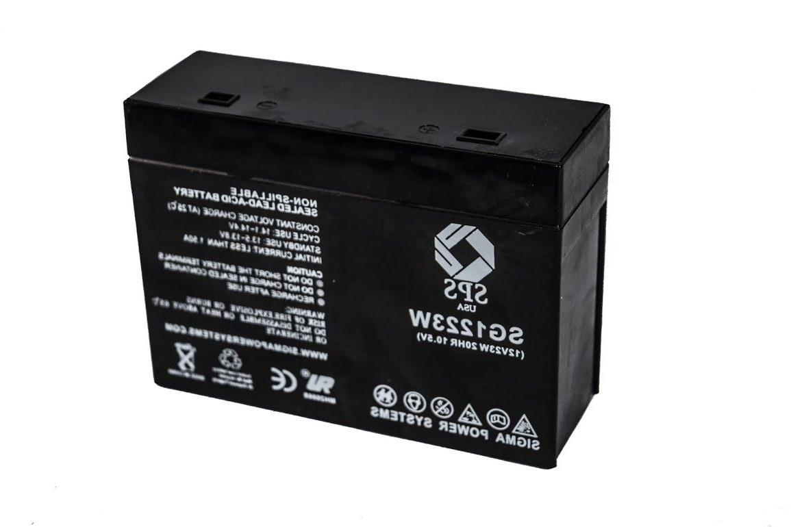 SPS Brand 1223W Replacement Battery For Powersonic PS-1251FP