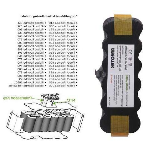 Areotek 【Upgraded 4500mAh】 Replacement Battery Roomba 500 700 531 535 552 560 595 620 630 760 870 880 R3 Robots