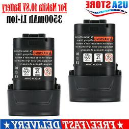 2 x 12V Lithium Battery + Charger For Milwaukee 48-11-2401 M