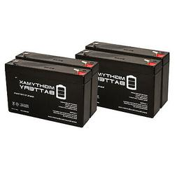 Mighty Max 4 Pack - 6V 7AH Replacement Battery for Empire Sc