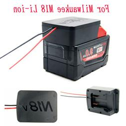 For Milwaukee M18 Li-ion Battery Convert DIY Cable Output Ad